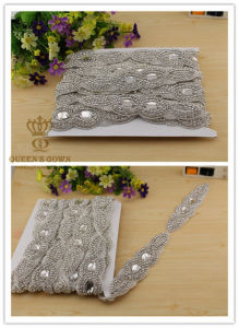 Hand-Beaded Bride Wedding Dress Rhinestone Belts, Trim DIY Accessories pictures & photos