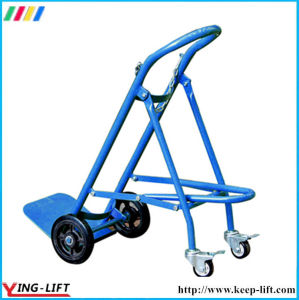 Solid Rubber Wheels Hand Trolley for Gas Cylinder Ty120 pictures & photos