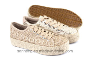 2016 Rubber Vulcanized Shoe with Hemp Rope Foxing (SNC-280032) pictures & photos