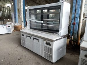 Customized Counter Work Bench Refrigerator with Chopping Block pictures & photos
