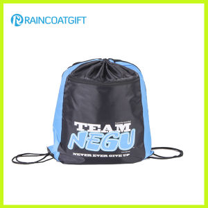 Custom Brand Promotional Nylon Drawstring Backpack Bag pictures & photos