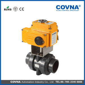 4 Inch Hot Selling 2way Electric PVC Ball Valve pictures & photos