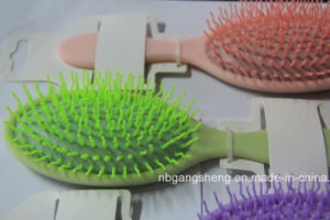 Message Hairbrush Colorful Hair Brush with Curving PP Pins pictures & photos