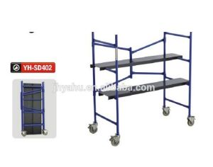 Portable Folding Mini Scaffolding Platform with Wheels Manufactory (YH-SD402) pictures & photos