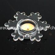 Christmas Decoration Clear Snow Flake Glass Tea Light Votive Candle Holder (ZT-103) pictures & photos