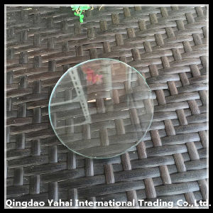 4mm Round Clear Float Glass with Polished Edge pictures & photos
