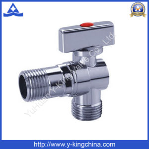 Polished Brass Ball Angle Valve with Plastic Handle (YD-5033) pictures & photos