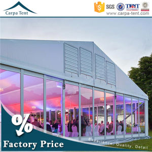 500 People Banquet Hall Party Tent Glass Wall Marquee Sale in Guangzhou pictures & photos