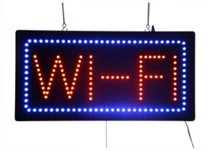 Coffee Pub Pizza Public Store LED Neon Free WiFi Sign