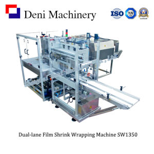Dual-Lane Film Shrink Wrapping Machine for Cartons pictures & photos