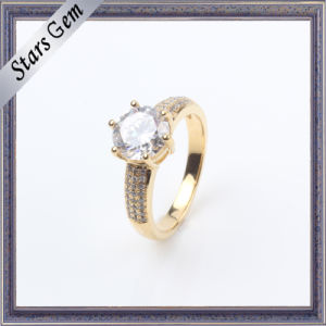 Fashionable Cubic Zirconia Gold Plated Fashion Silver Wedding Jewelry pictures & photos