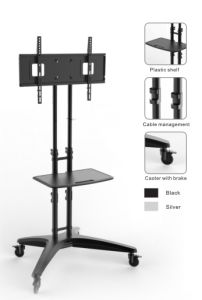 Height Adjustable LED/LCD/Plasma TV Mount Cart with DVD Rack (PSF312) pictures & photos