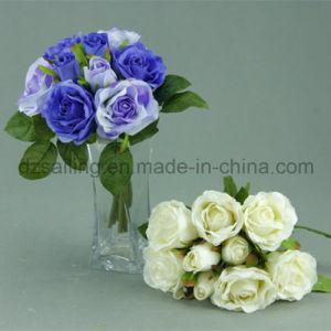 Decorative Artificial Medium Rose Bouquet Flower (SF12503) pictures & photos