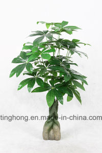 Home Decoration Artificial Pachira Tree with 30 Leaves