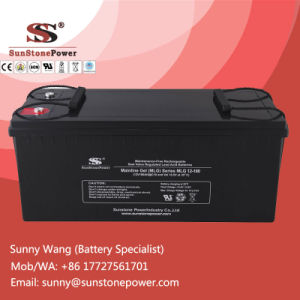 Deep Cycle Gel Solar Battery 12V 180ah with Best Price pictures & photos