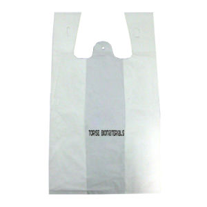 100% Fully Bioplastic/Biiodegradable/Compostable Vest Shopping/Shopper Bag pictures & photos