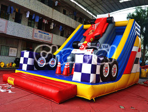 2015 F1 Racing Track Inflatable Double Slide for Sales pictures & photos