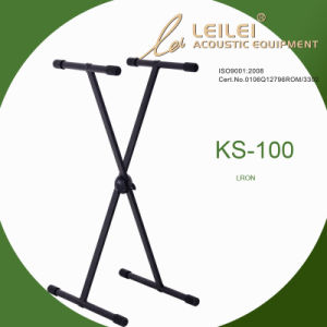 Knock-Down Single X Keyboard Stand/Ks-100 Black pictures & photos