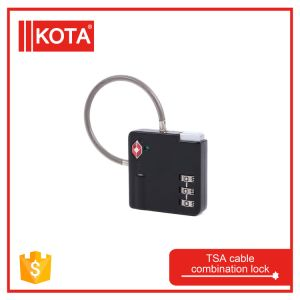 Tsa safety Luggage Cable Combination Lock