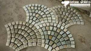 Mesh Mixed Color Flagstone Mosaic Tiles for Wall/Flooring (mm089) pictures & photos