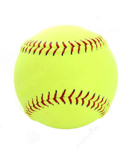 """12"""" Yellow Leather Practice Softball pictures & photos"""