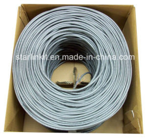 4-Pair 24AWG UTP Pure Copper Cat5e Ethernet Network Cable Grey pictures & photos