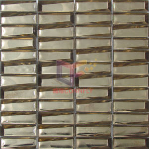 Latest New Three Dimensional Gold Color Crystal Mosaic Tiles (CSJ150) pictures & photos
