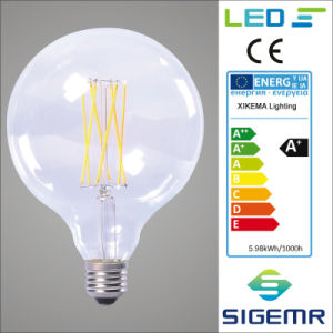 G125 4W 6W 8W LED Filament Light Bulbs pictures & photos