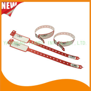 Barcode Hospital Logo Customized Medical ID Wristband Bracelet Bands (8027-2-9) pictures & photos