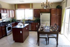 Dark Cherry Kitchen Cabinets (DC10) pictures & photos