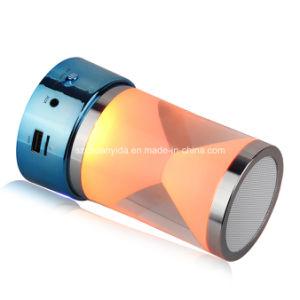 LED Light Mini Bluetooth Speaker with Handsfree, FM/TF/Aux