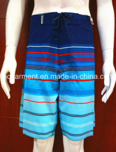 Strip Colorfull Poluester Beachwear Swimwear Beach Shorts for Man pictures & photos