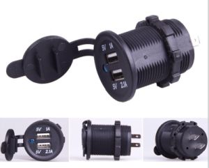 Waterproof USB Charger Adapter Socket 12-24V Outlet Power Jack for Marine Motorcycles pictures & photos