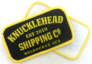 Customized Wholesale Woven Badges Patch pictures & photos