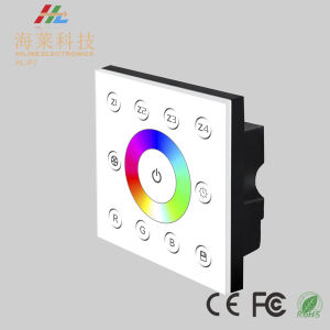 12-24V DC Fashionable Multiple Zone RGB DMX512 4CH LED Touch Panel Controller pictures & photos