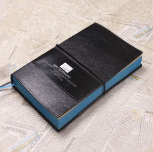 Black Soft Leather Brift Notebook pictures & photos