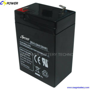 6V4.5ah Emergency Lighting Battery Rechargeable Sealed Lead Acid Battery CS6-4.5 pictures & photos