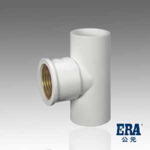UPVC Pressure Pipe Fittings Copper Thread Tee pictures & photos