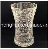 Hand Made Ice Crackle Glass Vase (V-028) pictures & photos