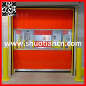Plastic High Speed PVC Roll Door (ST-001) pictures & photos