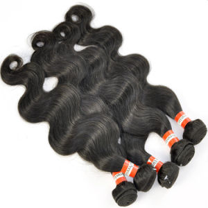 "Peruvian Virgin Hair Extensions Body Wave 14"" Good Hair Weft pictures & photos"
