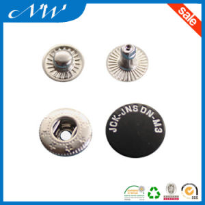 Black Enamel Color Metal Zinc Alloy Snap Button