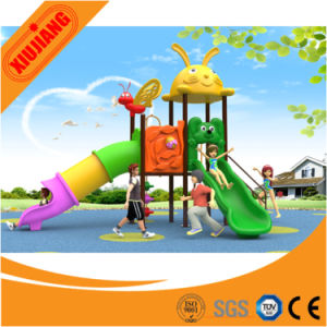 Xj2016 New design Outdoor Playground Plastic Slide with Swing for Children pictures & photos