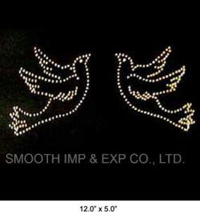 Wholesale Fashion Design Repair Owl Diamond Pattern Iron on Transfer pictures & photos