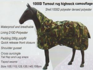 Horse Gear I000d Turnout Rug Highneck Camouflage pictures & photos