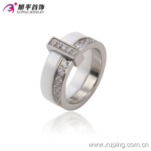 New Fashion Stainless Steel Jewelry Ceramic Round Finger Ring for Women -13740 pictures & photos