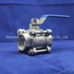 CF8/CF8m/CF3/CF3m Heavy Type 3 Pieces Ball Valve with Lock pictures & photos