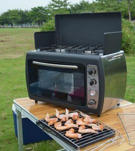 Outdoor Cooking BBQ Camping Gas Cooker Oven with Stove pictures & photos