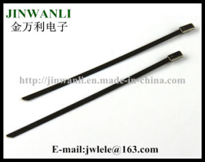 Epoxy Plastic Coated Stainless Steel Cable Ties CE UL RoHS pictures & photos
