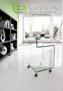 S Shape Glass Stand in Living Room Furniture pictures & photos